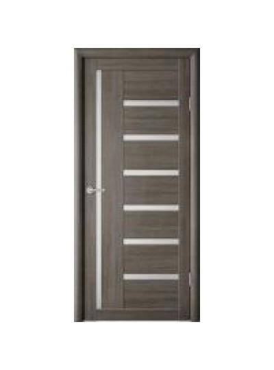 Дверь Мадрид, Кедр серый, светлое стекло