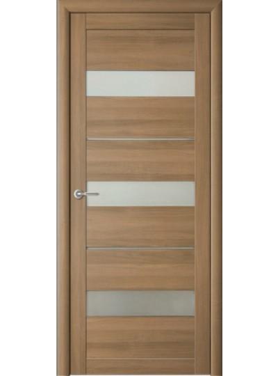 Дверь Прага, Кипарис янтарный, светлое стекло (заказ)