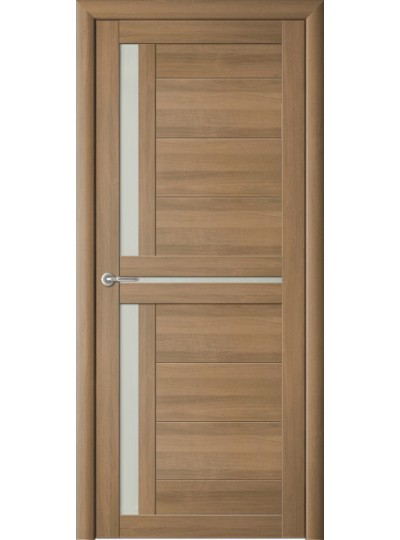 Дверь Кёльн, Кипарис янтарный, светлое стекло (заказ)