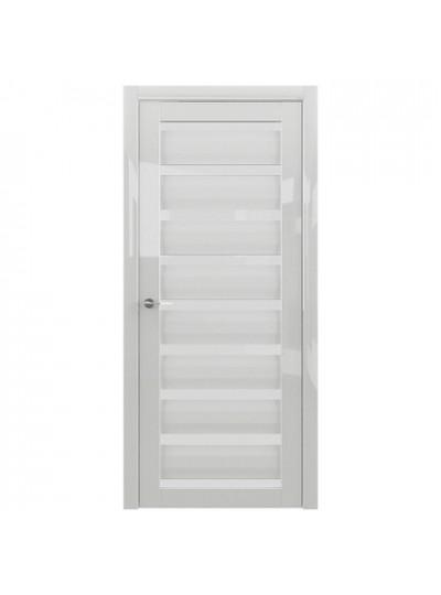 Дверь Сидней, глянец белый, светлое стекло