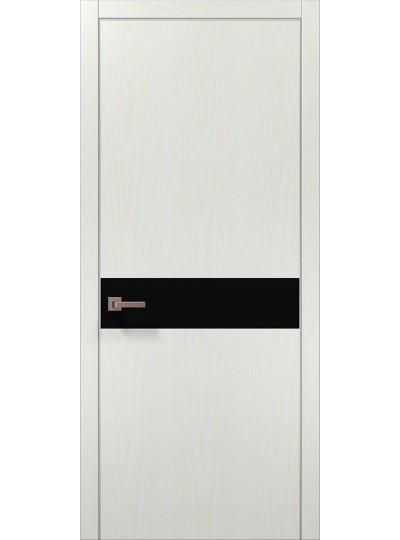 Дверь Ф-2 Лиственница белая, черное стекло
