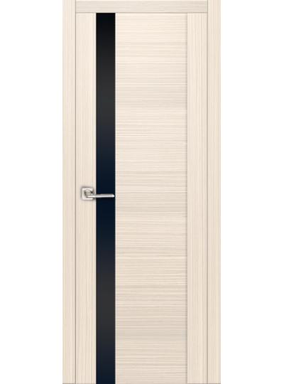 Дверь Ф-1 Лиственница белая, черное стекло