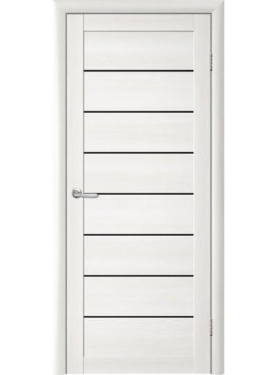 Дверь Т-1 Лиственница белая, черное стекло