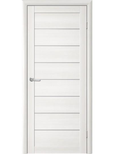 Дверь Т-1 Лиственница белая, белое стекло