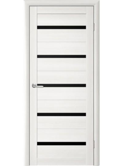 Дверь Т-2 Лиственница белая, черное стекло