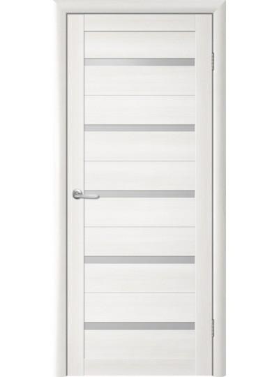 Дверь Т-2 Лиственница белая, белое стекло