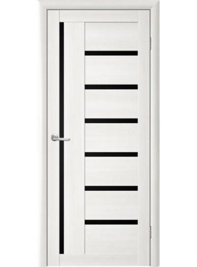 Дверь Т-3 Лиственница белая, черное стекло