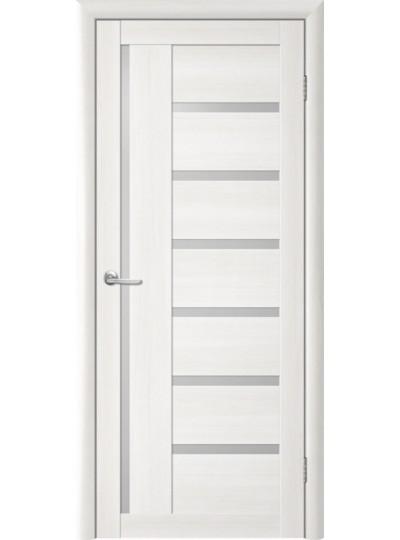 Дверь Т-3 Лиственница белая, белое стекло