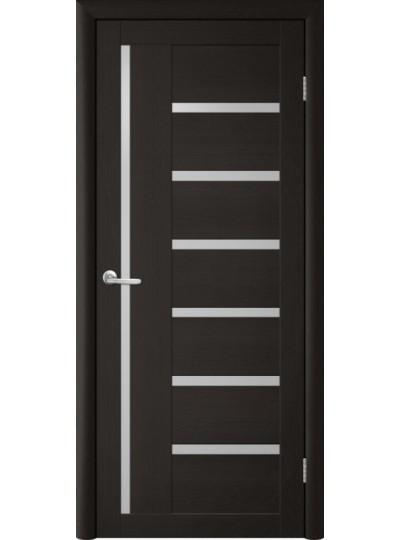 Дверь Т-3 Лиственница темная, белое стекло