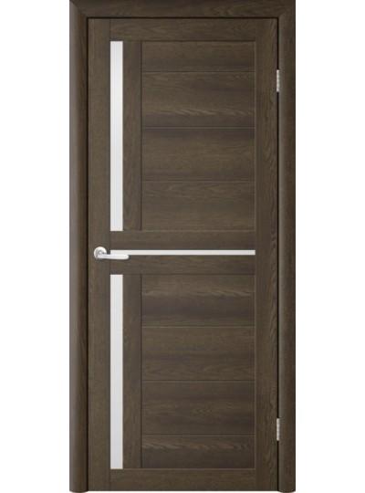 Дверь Т-5 Дуб Оксфорд, белое стекло