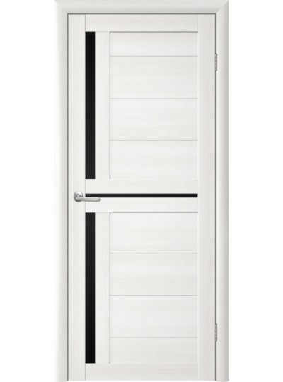 Дверь Т-5 Лиственница белая, черное стекло