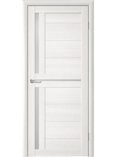 Дверь Т-5 Лиственница белая, белое стекло