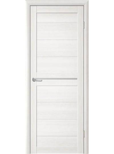Дверь Т-6 Лиственница белая, белое стекло