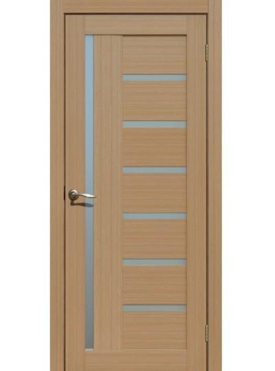 Дверь Fly doors L17 Тик, белое стекло