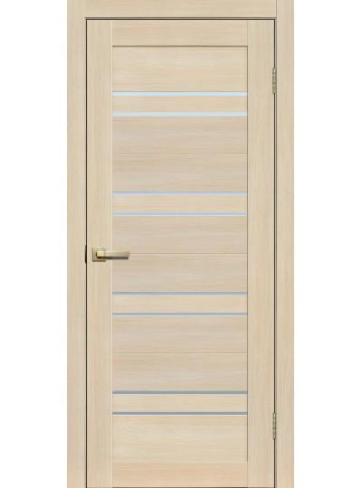 Дверь Fly doors L11 Ясень, белое стекло