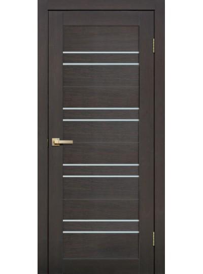 Дверь Fly doors L11 Венге, белое стекло