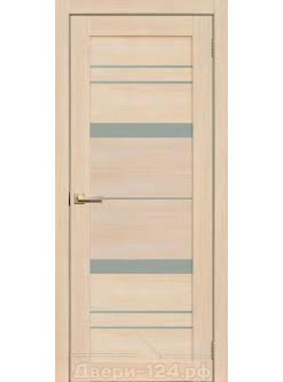 Дверь Fly doors L12 Ясень, белое стекло