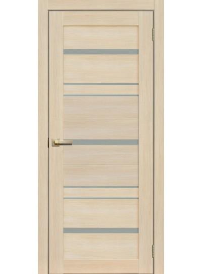 Дверь Fly doors L13 Ясень, белое стекло
