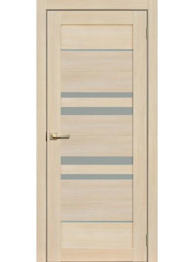 Дверь Fly doors L14 Ясень, белое стекло