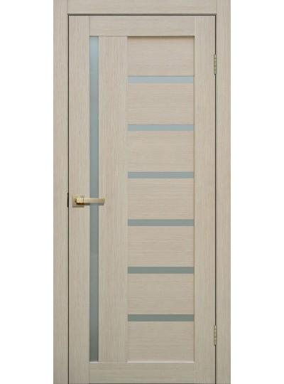 Дверь Fly doors L21 Ясень, белое стекло