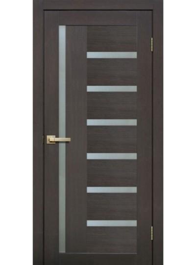 Дверь Fly doors L21 Венге, белое стекло