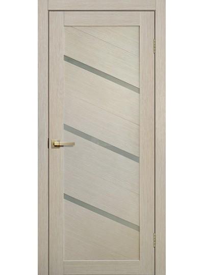 Дверь Fly doors L05 Ясень, белое стекло