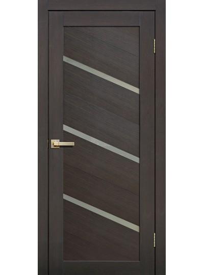 Дверь Fly doors L05 Венге, белое стекло