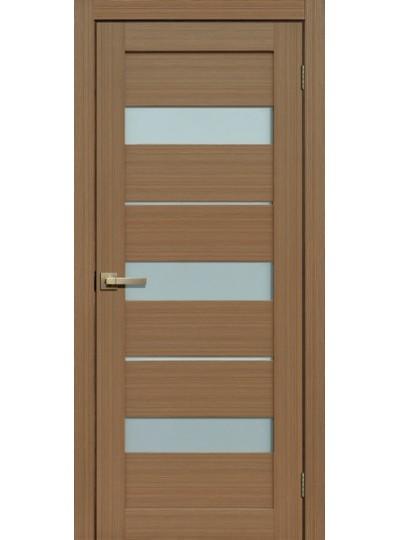 Дверь Fly doors L20 Тик, белое стекло