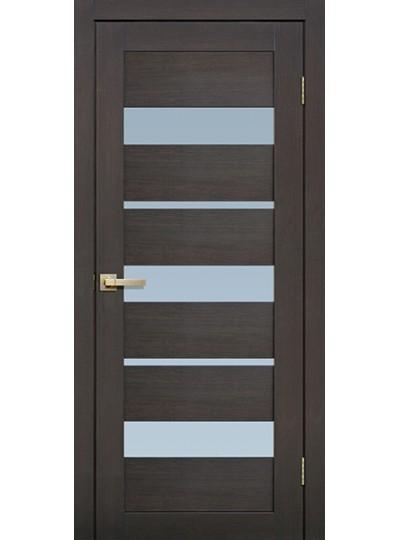Дверь Fly doors L20 Венге, белое стекло