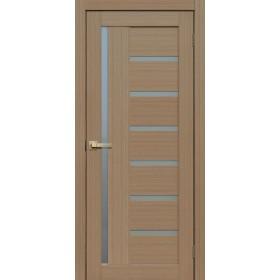 Дверь Fly doors L21 Тик, белое стекло