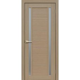 Дверь Fly doors L23 Тик, белое стекло