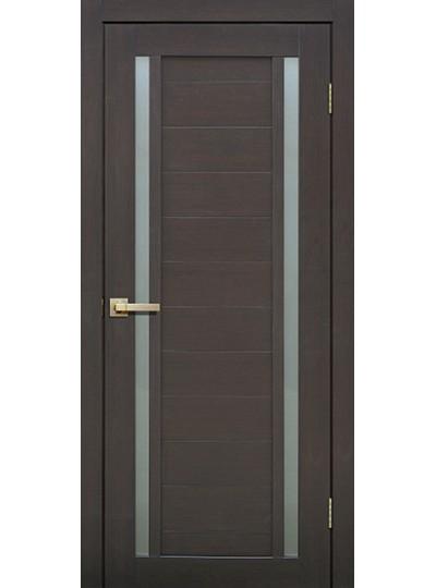 Дверь Fly doors L23 Венге, белое стекло
