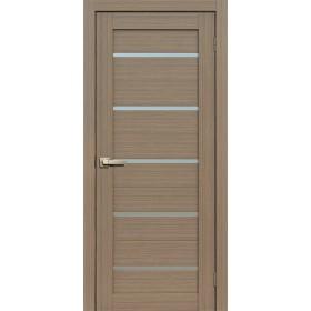 Дверь Fly doors L26 Тик, белое стекло