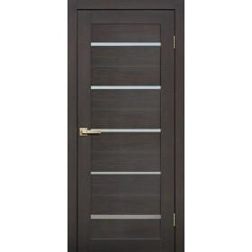 Дверь Fly doors L26 Венге, белое стекло