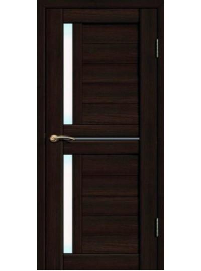 Дверь Fly doors L22 Венге, белое стекло