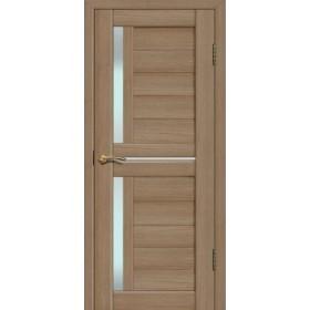 Дверь Fly doors L22 Тик, белое стекло
