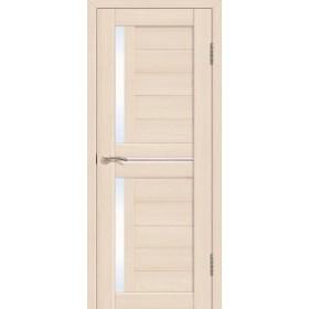 Дверь Fly doors L22 Ясень, белое стекло