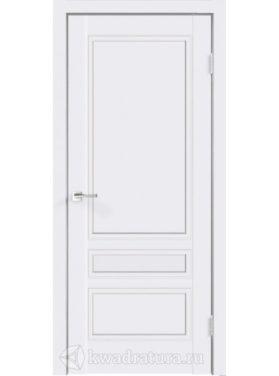 ДВЕРЬ SCANDI 3V Эмаль, цвет Белый, ст. матовое Ромб