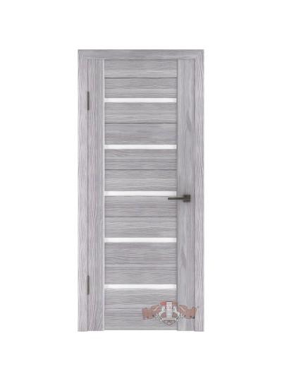 Дверь LINE 1 Л1ПГ2, Серый дуб, стекло белое