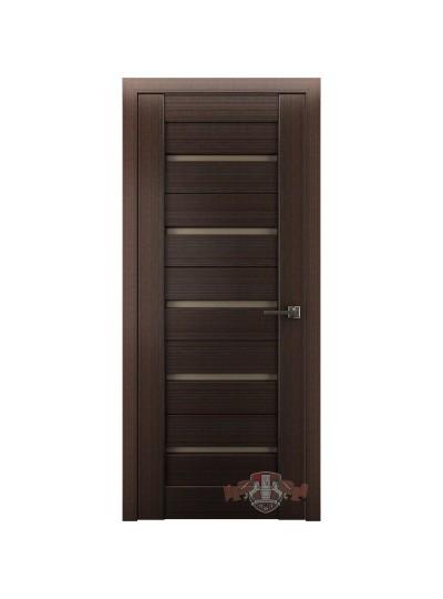 Дверь LINE 1 Л1ПГ4, Венге, стекло бронза