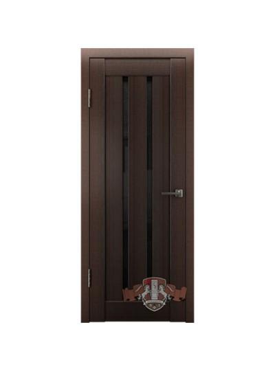Дверь LINE 2 Л2ПГ4, Венге, стекло черное