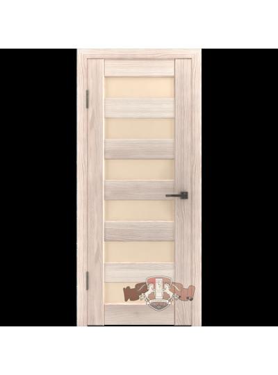 Дверь LINE 7 Л7ПГ1, Капучино, стекло бежевое