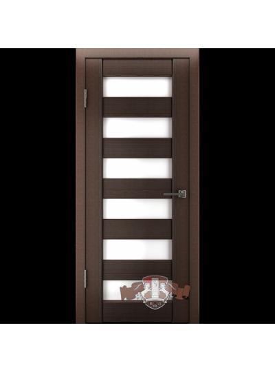Дверь LINE 7 Л7ПГ4, Венге, стекло белое