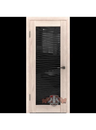 Дверь LINE 8 Л8ПО1, Капучино, Зебра триплекс черный