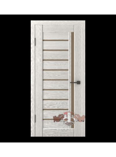 Дверь LINE 11 Л11ПГ4, Беленый дуб , стекло бронза